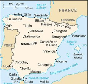 National Map Of Spain spanish symbols